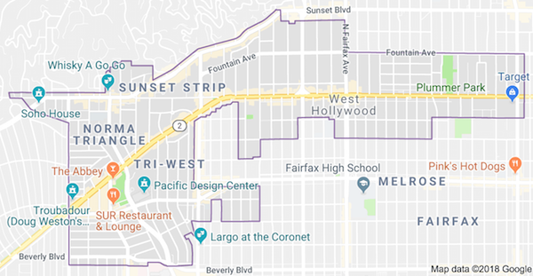 west-hollywood-map